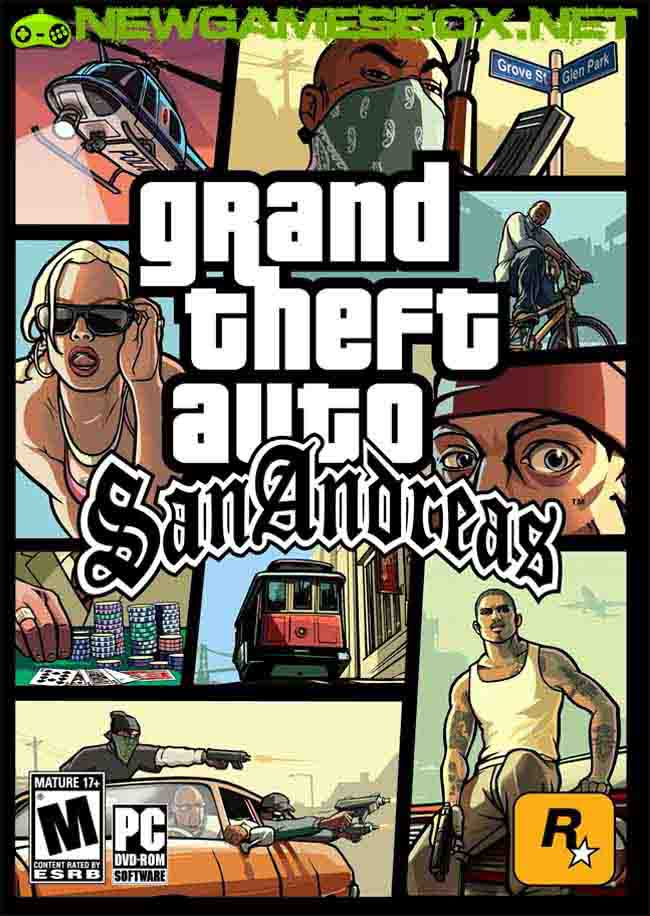 Gta / grand theft auto: san andreas winter edition (2005) rus.
