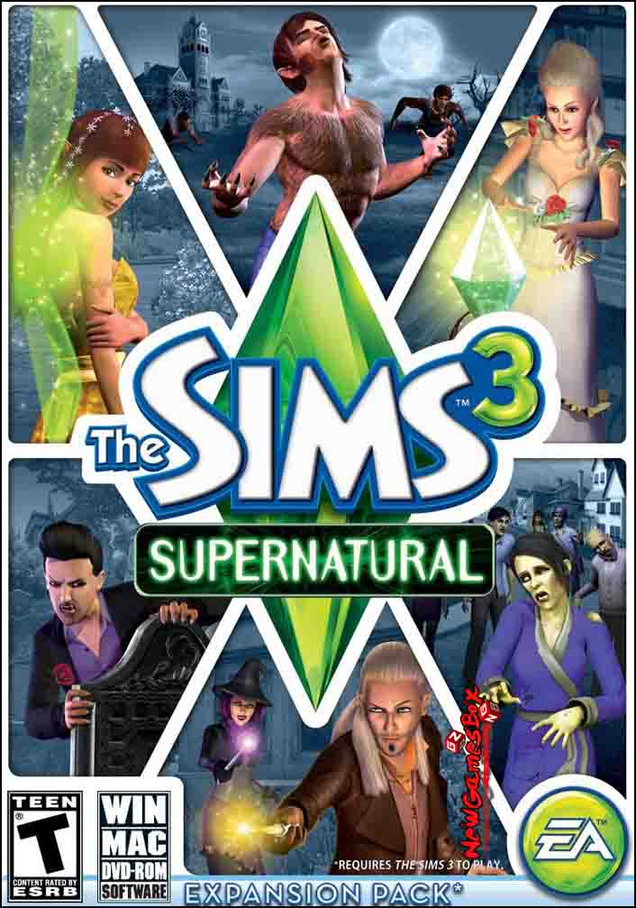 the sims 3 supernatural free download full pc game setup